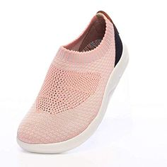 5cee80e7963 UIN Women s Sicily Casual Flyknit Loafer Shoes Comfort Sneaker Brown