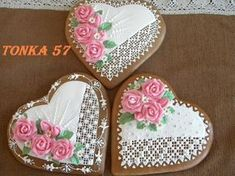 venované Tea Cookies, Cupcake Cookies, Sugar Cookies, Valentines Day Cookies, Holiday Cookies, Elegant Cookies, Cookie Gifts, Cross Stitch Designs, Mother Day Gifts