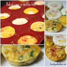 Bake Eggs in the oven. Perfect short cut idea for Egg sandwich with bacon and cheese