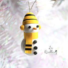 Paper Quilling 3D Snowman  Handmade Christmas por LeQuillery