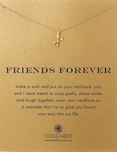 Friends are for forever. Token of friendship. Small gift for best friend. 8 beautiful necklaces with a meaningful message.