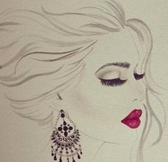 Lovely fashion illustration.