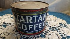 Vintage Tartan Coffee Tin by RileysVintageRelics on Etsy