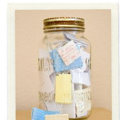 Put memories in jar throughout the year and read on nye