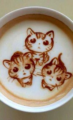 Ahhh. Poissibly too cute to drink...possibly.   #Coffee #Latte #Art #Foam