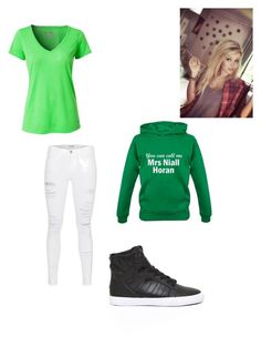 """Girl version of Niall Horan"" by tomboy16 ❤ liked on Polyvore featuring Under Armour, Frame Denim and Supra"