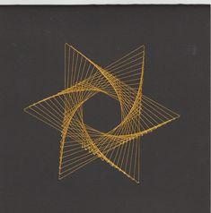 Yellow Star by Sheilah Roper Tread Art, Barrette, Yoga Studio Decor, Spiritual Decor, Meditation Art, Paper Embroidery, Zen Art, Psychedelic Art, Hanging Wall Art
