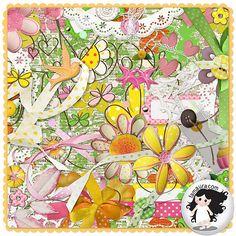 Kit - Colorindo com Flores by Fa Maura [FaMaura_KitColorindoCFlores] - $4.90 : FaMaura.com - scrapshop