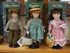 Anne, Diana and Gilbert dolls