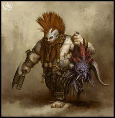 """Eberk """"Anão de Adamante"""", anão das montanhas bárbaro do Clã Thorbânion, PJ, Grupo 2, Arzien"""