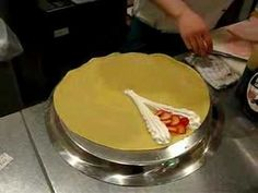 How to Make a Japanese Crepe or http://www.youtube.com/watch?v=2sFbZbw4QUY     or  http://www.youtube.com/watch?v=Qh4uqGn57M8=related or  http://www.youtube.com/watch?v=7I9mie7YZRA=related  or  http://www.youtube.com/watch?v=ZeZhSP10kVo or http://www.mustlovejapan.com/subject/howto_cook_japanese_crepe/
