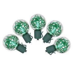 Green Tinsel Lights