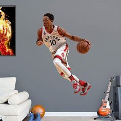 NBA Toronto Raptors NBA Demar Derozan 2015-2016 Realbig, Real Big by Fathead Peel and Stick Decals. NBA Toronto Raptors NBA Demar Derozan 2015-2016 Realbig, Real Big. Real Big.