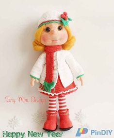 Tiny Mini Design - Mary Soskov - Theodore Doll / Theodore and Bear ... | 284x235