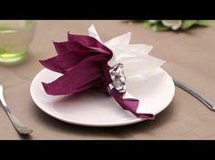Pliage de serviette en papier- Le palmier - Labelleadresse.com - YouTube