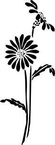 Flowers Silhouette clip art - vector clip art online, royalty free & public domain
