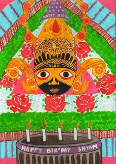 श्री श्याम जन्मोत्सव, कार्तिक शुक्ल एकादशी, painting by jai shekhar