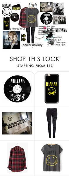 """""""Nirvana"""" by xxonyx-lightwaterxx ❤ liked on Polyvore featuring Casetify, H&M, Madewell and Wet Seal"""