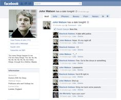John's Facebook.  Is it strange that I can definitely picture this happening on the show? And Moriarty occasional comments on random stuff.