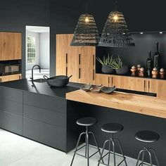 Modern Kitchen Interiors, Luxury Kitchen Design, Kitchen Room Design, Kitchen Cabinet Design, Home Decor Kitchen, Interior Design Kitchen, Kitchen Furniture, Kitchen Designs, Outdoor Furniture