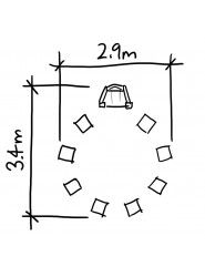 Hand Made Places - Story Circle & 8 Block Seats - BX/HMP 450029
