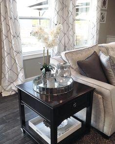Good morning! #readyforfall #mirrortray #crackedglass #mercuryglass #mirrorvase #orchid #whiteorchid #velvet #velvetfurniture #grayandwhite #home #decor #livingspace #livingroom #homedecor #homedesign #countryliving #perfection #interior #interiordesign #getinspired #decoratingideas #beautifulliving #marshalls