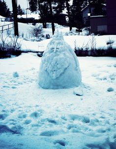 Ice King snow sculpture