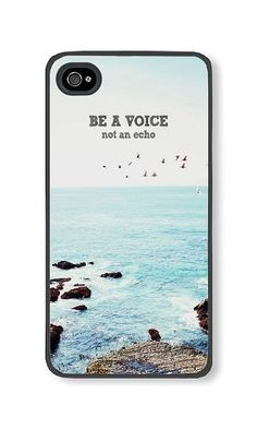 iPhone 4/4S Phone Case DAYIMM Be A Voice Not An Echo Black PC Hard Case for Apple iPhone 4/4S Case DAYIMM? http://www.amazon.com/dp/B017LBZ9YC/ref=cm_sw_r_pi_dp_xiaqwb0KFVZM8