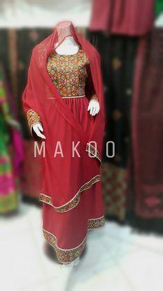 Hand embroidery Afghan dress.