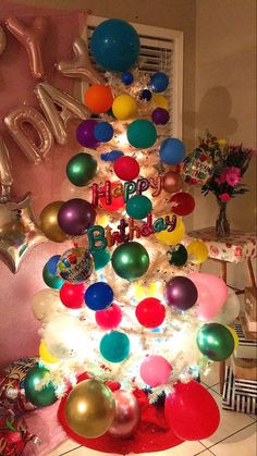 Birthday Tree, Ornament Wreath, Ornaments, Trees, Wreaths, Home Decor, Decoration Home, Door Wreaths, Room Decor