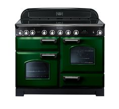 Rangemaster Classic Deluxe 110 Induction Range Cooker Racing Green/Chrome