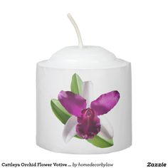 Cattleya Orchid Flower Votive Candle