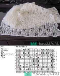 Discover thousands of images about Crochê para iniciante passo a passo - Handarbeit Lace Knitting Stitches, Lace Knitting Patterns, Lace Patterns, Easy Knitting, Stitch Patterns, Knitting Needles, Tricot D'art, Knitting Magazine, Knitted Shawls