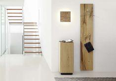 Dryad Interior Kollektion Garderobenpaneel hochkant hängend Eiche massiv Hirnholz - Möbel Mit www.moebelmit.de