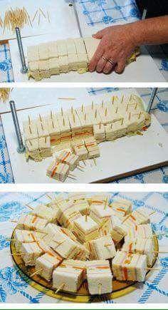 Ideas de bocadillos usando pan de caja