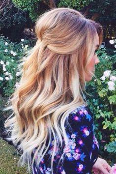 loose curls, half up