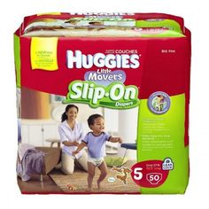 HUGGIES® Little Movers Slip-On® Diapers