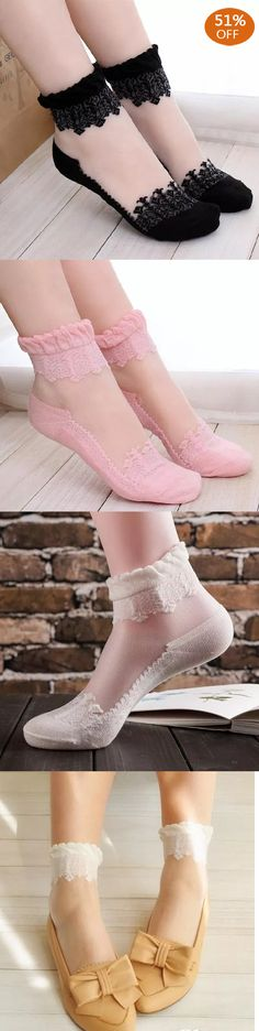Breathable Crystal Lace Ankle Socks Fashion Socks, Fashion Heels, Fashion Outfits, Womens Fashion, Prom Heels, Cute Socks, Height Insoles, Ankle Socks, New Wardrobe