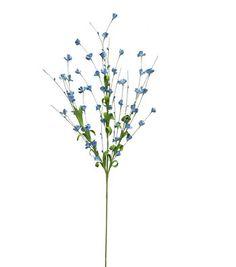 "Blooming Spring 29"" Mini Flower Spray-Blue"