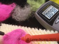 Conductive Roving meets Traditional Needle Felting on tonights eTextile Lounge uStream Broadcast.  8PM Denver time. (2012)  bit.ly/ypFCHN #eTextile #softCircuit #wearableTech #craftTech