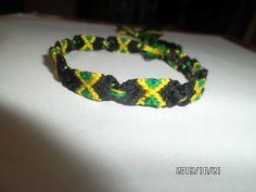 Bracelet pattern of the Jamaican flag