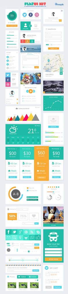 10 kits de design flat gratuitos