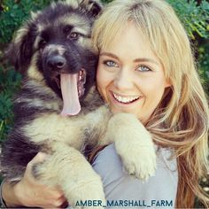 Amber Marshall with a cute wee dog