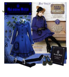"""Moi-meme-Moitie Blue"" by pihta66 ❤ liked on Polyvore featuring Burton, lolita, gothic lolita, harajuku, mana-sama and japan"