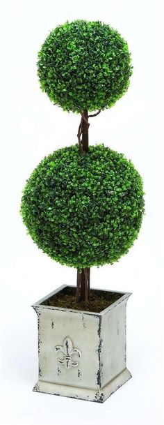 Polyester Landscape Topiary Boxwood Artistic Home Decor Accent Green Floral #WOODLANDSIMPORTS