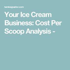 Your Ice Cream Business: Cost Per Scoop Analysis - Ice Cream Business, Ice Cream Stand, Equipment For Sale, Frozen Yogurt, Shop Ideas, Business Ideas, 1950s, Sunset, Weights