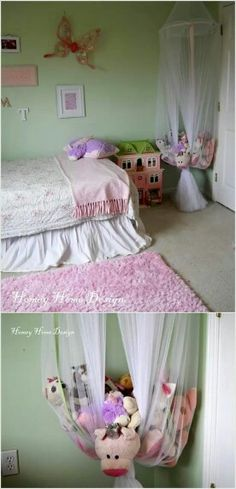 Hanging Homemade Toy Storage Ideas for Girls by DIY Ready atu2026 & Storage For Stuffed Animals: Ideas That Work | Pinterest | Stuffed ...