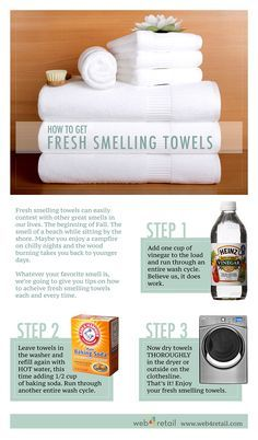 e hope you enjoy the tips on How to Get Fresh Smelling Towels. Of course the very first step to clean and fresh laundry starts with good appliances. Please browse our website here or the navigation above for our complete catalog of the most affordable appliances available.