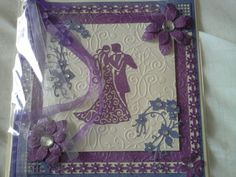 Tattered lace wedding card