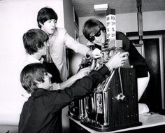 When they went to Las Vegas, they couldn't got to an actual casino because...they're the Beatles. :D So they brought the slot machines to their room.
